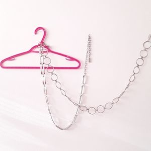 Accessories - Silver chain metal belts 2pcs